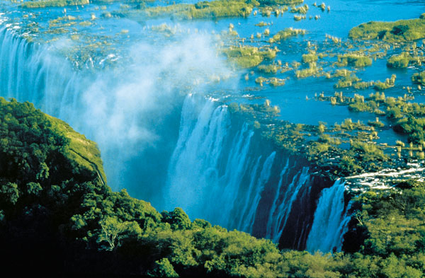 Victoria Falls aireal view