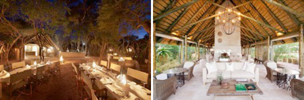 Kapama Southern Camp dining and lounge areas