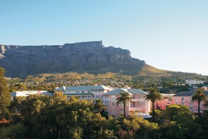 The Mount Nelson Hotel and Table Mountain