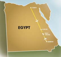 Cruise Egypt - Gift of the Nile map