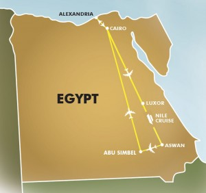 Great Egyptian Discovery map