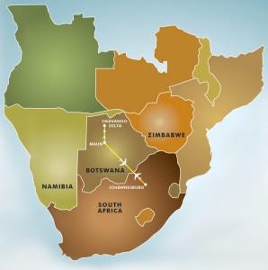 the great wing safari botswana map