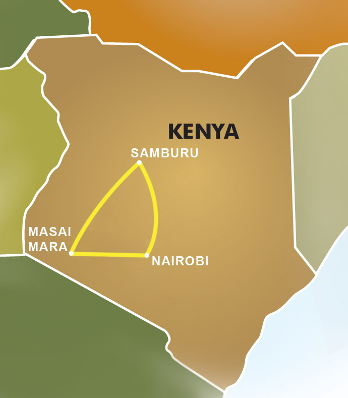 Kenya Map Great Safaris