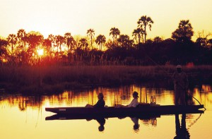 The Great Wing Safari Botswana Okavango delta canoe