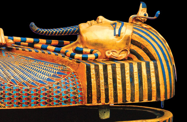 Land of the Pharaohs Tutankhamen sarcophagus