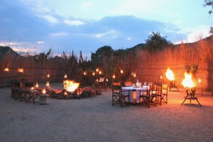 Nkomazi Lodge Boma for outdoor dinners