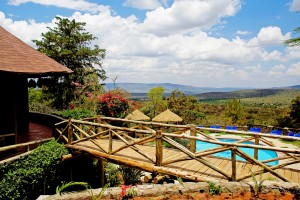 Kenya - 5 Days Mara Sopa Lodge view over pool