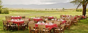 Tanzania Express safari crater floor lunch