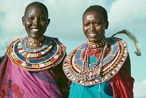 Kenya Flying Safari Masai girls
