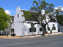 Full Day Cape Winelands tour Stellenbosch street corner