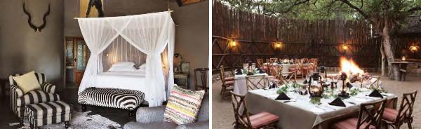 Motswari Game Lodge bedroom and boma
