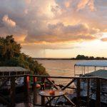 Chobe Marina Lodge deck overlooking river