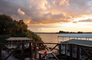 Chobe Marina Lodge deck overlooking river