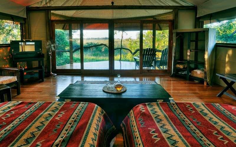 Kanana Camp tent interior