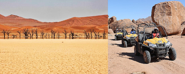 Namibia Wing Safari - 12 days Dead Vlei and quad bikes