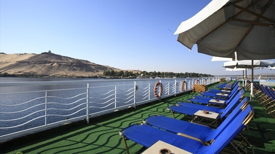Crown Empress Nile Cruise deck