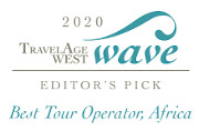 TravelAge West 2020 WAVE Editor's Pick, Best Tour Operator, Africa