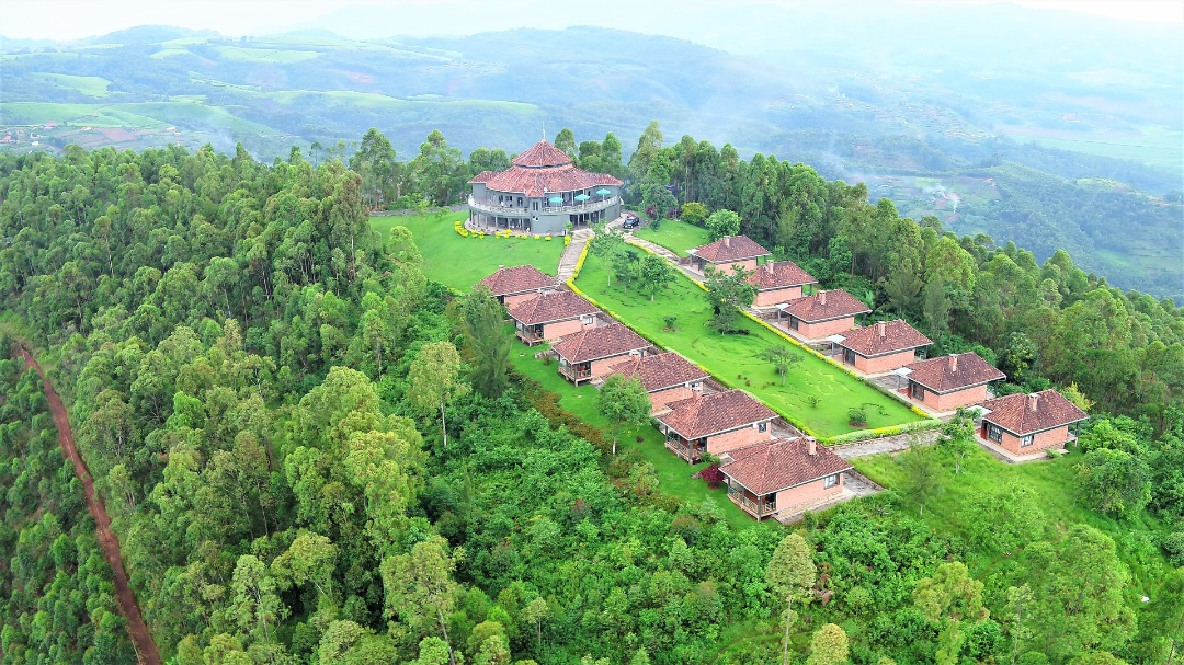 Nyungwe Top Hill View Hotel aerial view